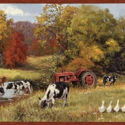 Herman Green Cow Pasture Portrait Border BBC15031B