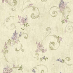 Emma Grey Lilac Acanthus Scroll Wallpaper BBC21605