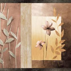 Bonnard Brown Floral Color Block Border BBC24624B