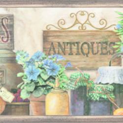 Marché Green Antique Herbs Portrait Border BBC44581B