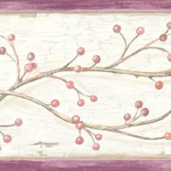 Pennsylvania Red Winterberry Branches Trail Border BBC44614B