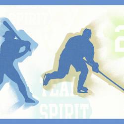 Seth Blue Sports Figures Toss Border BBC46302B