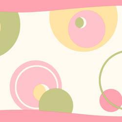 Wobbles Pink Geometric Toss Border BBC46431B