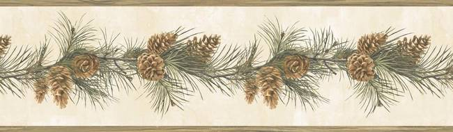 Fleming Cream Pine Boughs Trail Border BBC48402B