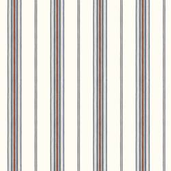 Camp Blue Cabin Stripe Wallpaper BBC491010