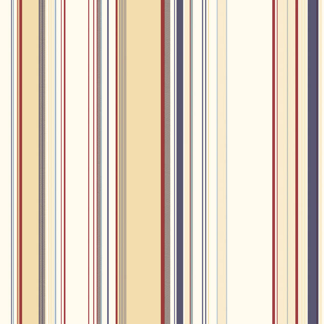 Charles Cream Lookout Stripe Wallpaper BBC58516
