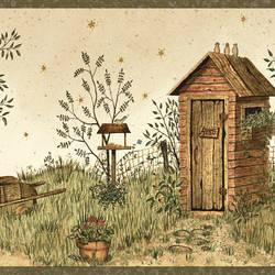 Twain Sand Garden Outhouse Portrait Border BBC65022B