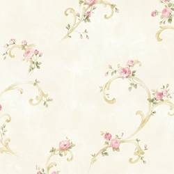 Betty Pink Tearose Acanthus Trail Wallpaper BBC77761