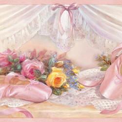 Eloise Pink Ballet Slippers Portrait Border BBC92092B