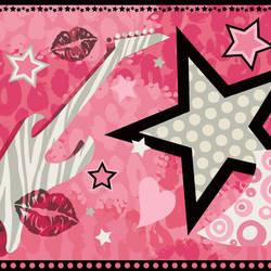 Blondie Pink Rock Star Toss Border BBC94003B