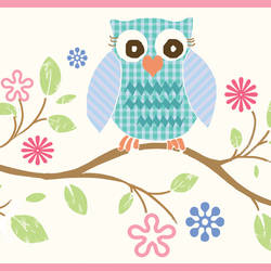 Winnie Pink Wise Owlets Trail Border BBC94011B
