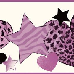 Diva Purple Cheetah Hearts Stars Border BBC94052B