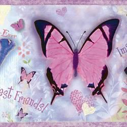 Kingston Purple BFF Butterflies Toss Border BBC94062B