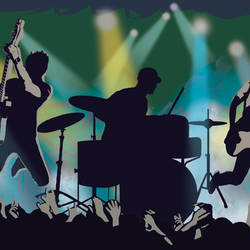 Jagger Blue Rock Show Silhouette Border BBC94152B