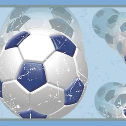 Beckham Blue Soccer Ball Motion Border BBC94251B