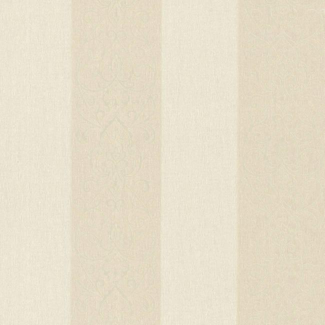 Arbella Beige Damask Swirl Stripe 492-2102