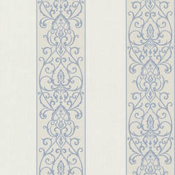 Arbella Blue Damask Swirl Stripe 492-2105