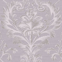 Tangler Purple Brilliant Damask Wallpaper BRL980013