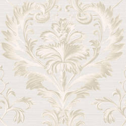 Tangler Light Grey Brilliant Damask Wallpaper BRL980015