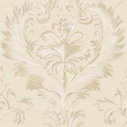 Tangler Silver Brilliant Damask Wallpaper BRL980016