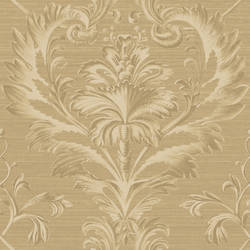 Tangler Brown Brilliant Damask Wallpaper BRL98002