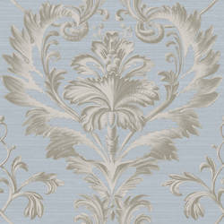 Tangler Blue Brilliant Damask Wallpaper BRL980020