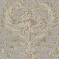 Tangler Charcoal Brilliant Damask Wallpaper BRL98003