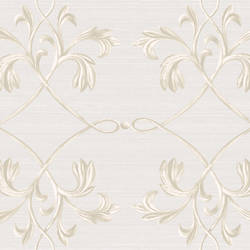 April Light Grey Acanthus Lattice Wallpaper BRL980115