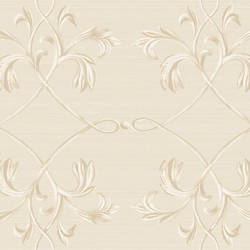 April Silver Acanthus Lattice Wallpaper BRL980116