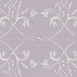 April Purple Acanthus Lattice Wallpaper BRL980117