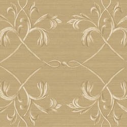 April Brown Acanthus Lattice Wallpaper BRL98012