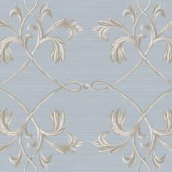 April Blue Acanthus Lattice Wallpaper BRL980121