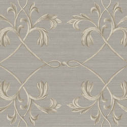 April Charcoal Acanthus Lattice Wallpaper BRL98013
