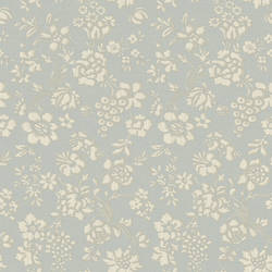 Stria Blue Floral Toss Wallpaper BRL98033