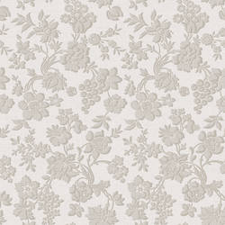Stria Grey Floral Toss Wallpaper BRL98036