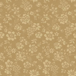 Stria Gold Floral Toss Wallpaper BRL98038
