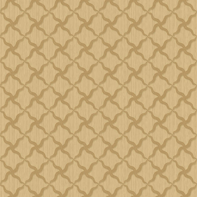 Alexi Gold Ornate Criss Cross Wallpaper BRL980410