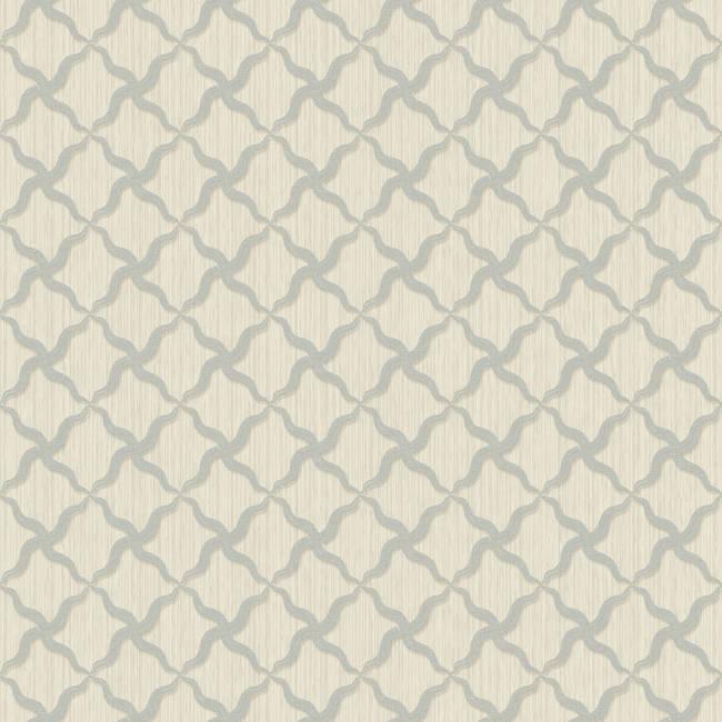 Alexi Blue Ornate Criss Cross Wallpaper BRL98044