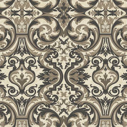 Guinevere Black Baroque Marquetry Wallpaper BRL980512