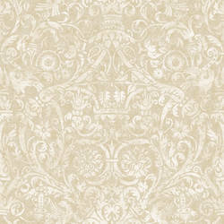 Bali Beige Damask Wallpaper BRL980713