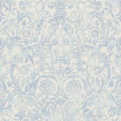Bali Blue Damask Wallpaper BRL980715