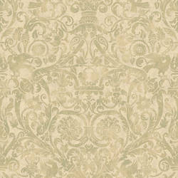 Bali Yellow Damask Wallpaper BRL980717