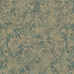 Bali Ocean Damask Wallpaper BRL98075