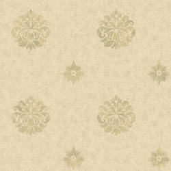 Meadow Yellow Medallion Wallpaper BRL980811
