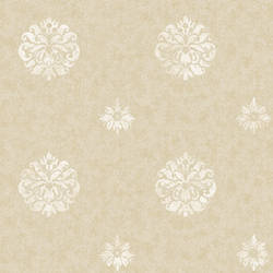 Meadow Beige Medallion Wallpaper BRL980813