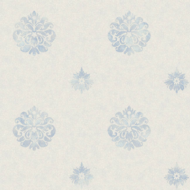 Meadow Blue Medallion Wallpaper BRL980815