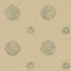 Meadow Green Medallion Wallpaper BRL980816