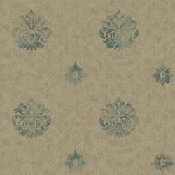 Meadow Ocean Medallion Wallpaper BRL98086