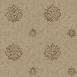 Meadow Espresso Medallion Wallpaper BRL98087