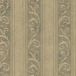 Farnworth Olive Scroll Stripe 2601-20838